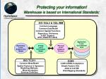 protecting your information warehouse is based on international standards