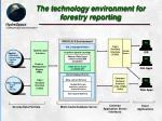 the technology environment for forestry reporting