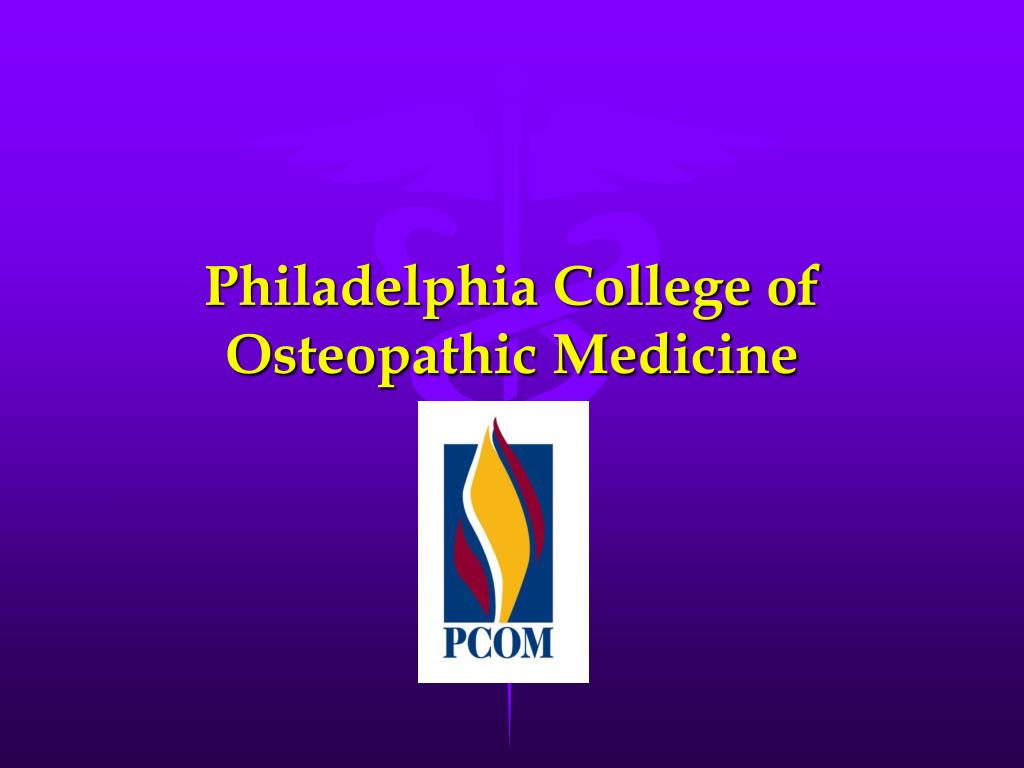 philadelphia college of osteopathic medicine l.