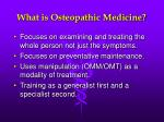 what is osteopathic medicine