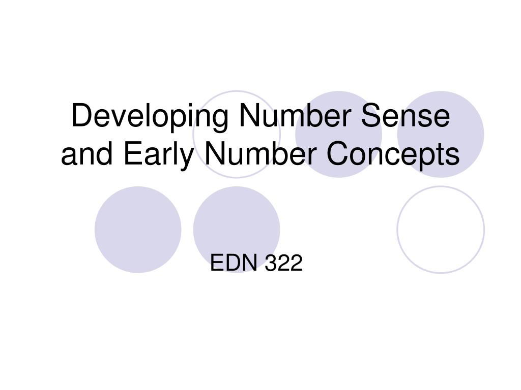 developing number sense and early number concepts l.