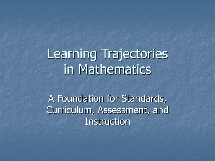 learning trajectories in mathematics n.