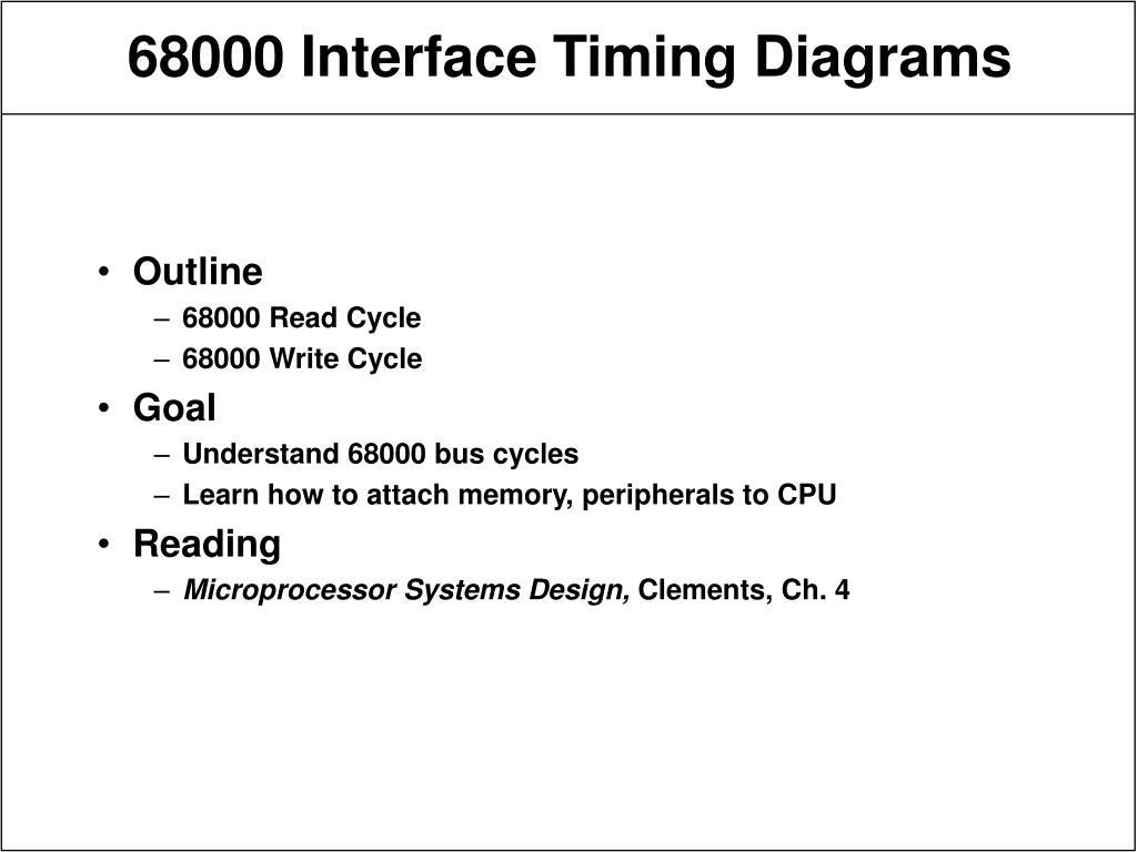 68000 interface timing diagrams l.