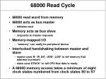 68000 read cycle