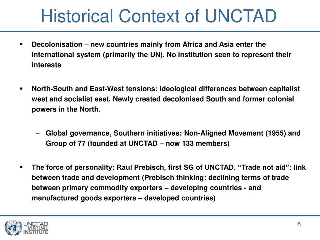 Historical Context of UNCTAD