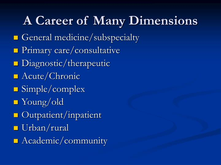 A career of many dimensions