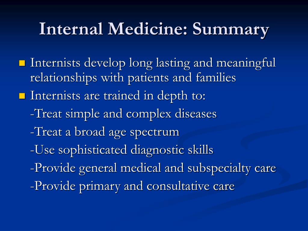 Internal Medicine: Summary