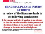 brachial plexus injury at birth32