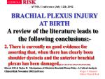 brachial plexus injury at birth33