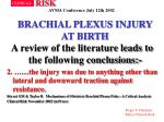 brachial plexus injury at birth34