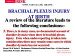 brachial plexus injury at birth35