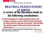brachial plexus injury at birth37