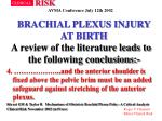 brachial plexus injury at birth38