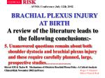 brachial plexus injury at birth39
