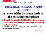 brachial plexus injury at birth40