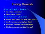 finding thermals