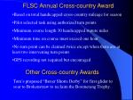flsc annual cross country award