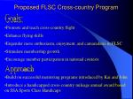proposed flsc cross country program