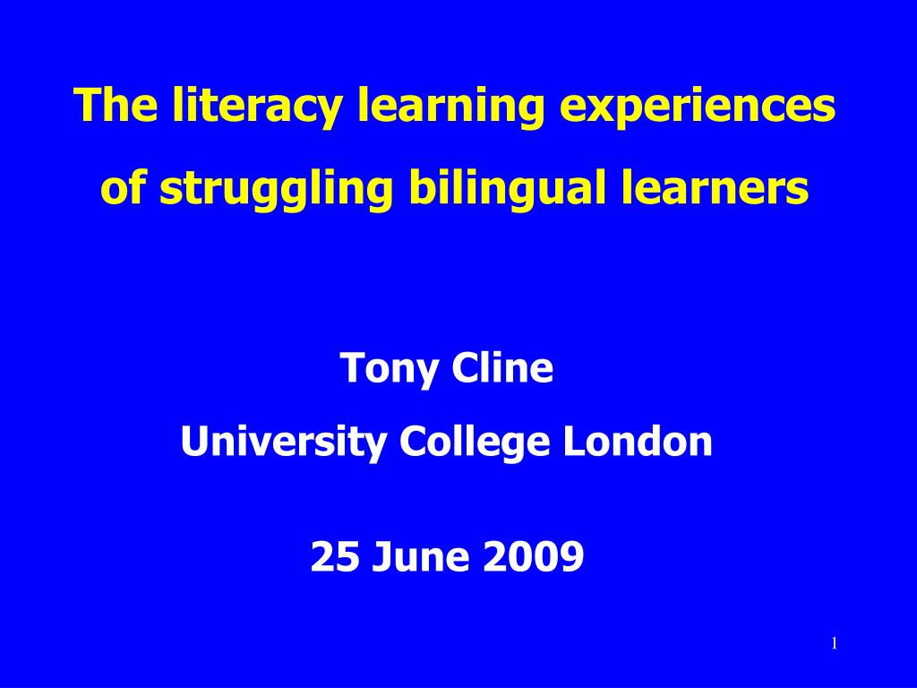 the literacy learning experiences of struggling bilingual learners l.