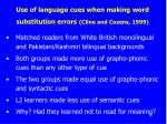 use of language cues when making word substitution errors cline and cozens 1999