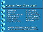 cancer food fish diet