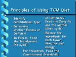 principles of using tcm diet