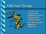 tcm food therapy