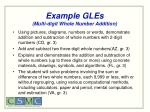 example gles multi digit whole number addition