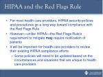hipaa and the red flags rule