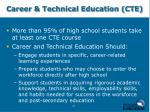 career technical education cte
