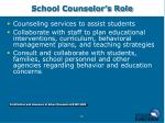 school counselor s role