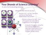 four strands of science learning31