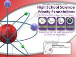 high school science priority expectations