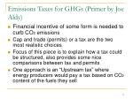 emissions taxes for ghgs primer by joe aldy
