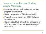 european union emission trading scheme wikipedia