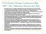 un climate change conference bali 2007 key takeaways stavins and aldy