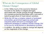 what are the consequences of global climate change