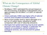 what are the consequences of global climate change1