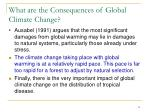 what are the consequences of global climate change3