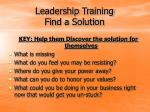 leadership training find a solution