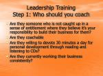 leadership training step 1 who should you coach9