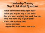 leadership training step 5 ask great questions24