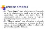 barreras definidas