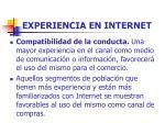 experiencia en internet81