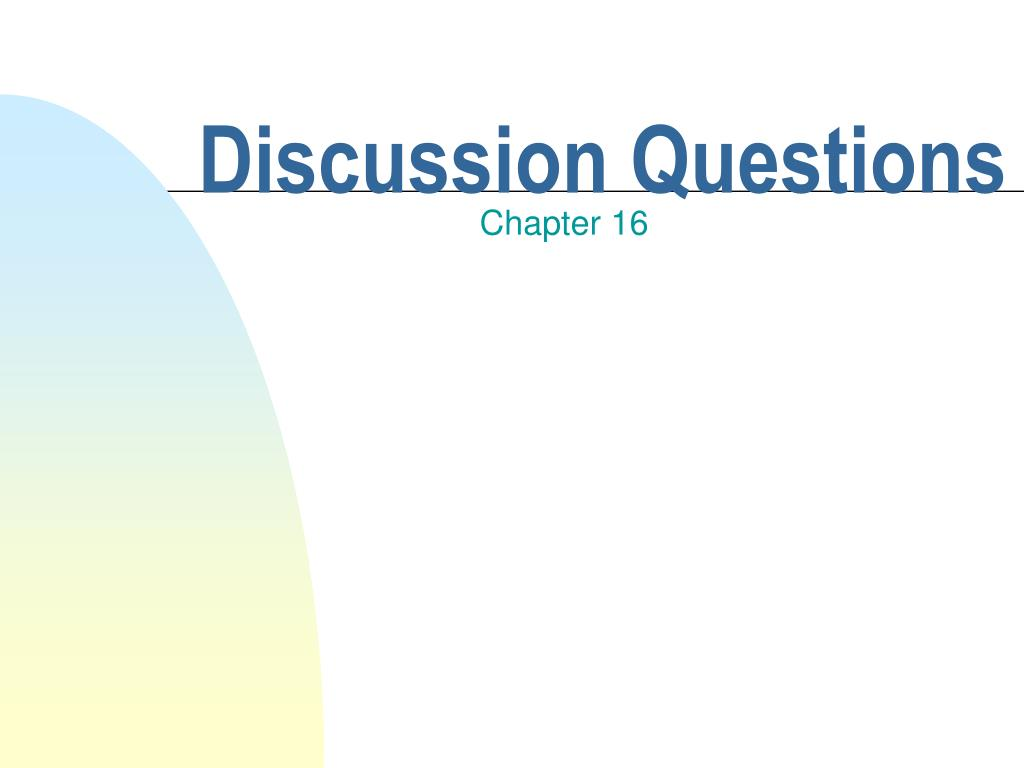 discussion questions l.
