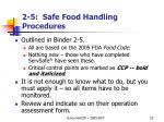 2 5 safe food handling procedures