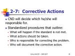 2 7 corrective actions