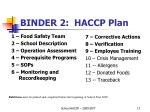 binder 2 haccp plan