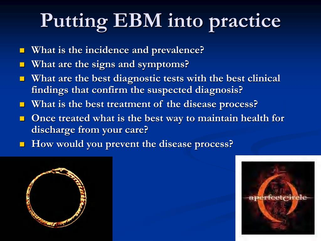 Putting EBM into practice