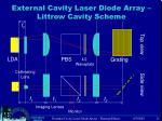 external cavity laser diode array littrow cavity scheme